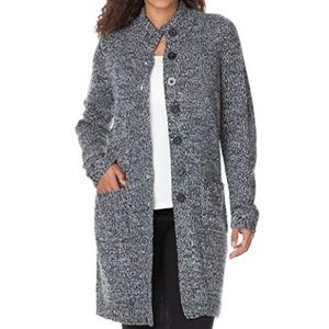 Sweaters - Marled Plus Size Black White Sweater Jacket